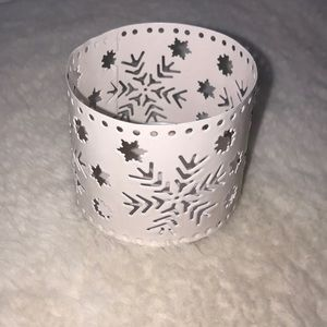 4/$15 Small White Candle Holder